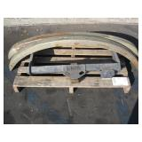 TOW HITCH & PAIR OF METAL BUMPERS