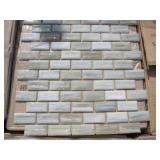 PALLET OF 1 X 2 MOSAIC GLASS TILES 270 S.F