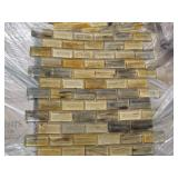 PALLET OF 1 X 2 MOSAIC GLASS TILES 450 S.F
