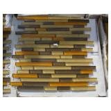 PALLET OF MOSAIC GLASS TILES 300 S.F