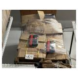 PALLET OF RED/BLACK PORTABLE CD CASES