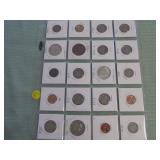 1 LOT W/1935 SILVER TONE COINS,MIXED COINS