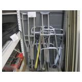 LOT OF ASSORTED CRUTCHES & WALKERS