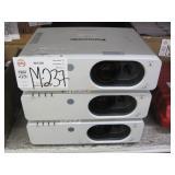 LOT OF 3 PANASONIC FW430 WXGA PROJECTORS: