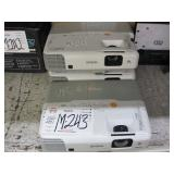 LOT OF 3 EPSON LCD PROJECTORS: MODELS POWERLITE 91