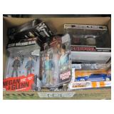 BOX OF VARIOUS ACTION FIGURES: WALKING DEAD,STRANG