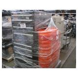 PALLET OF HUSKY TOOL CHESTS & 5.GAL BUCKETS