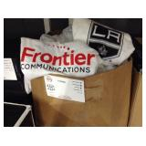 BOX OF FRONTIER COMMUNICATIONS T-SHIRTS
