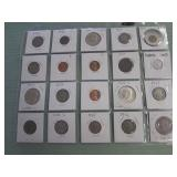 1 LOT W/1935 SILVER TONE COIN,MIXED COINS,CURRENCY