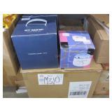 BOX OF PROFESSIONAL WAX WARMERS & 3 JEWELRY CLEANE
