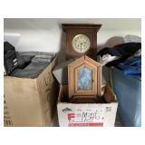BOX OF DECORATIVE WALL CLOCKS