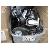 BOX OF ASSORTED KINDS OF FIXED CASTERS