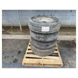 PALLET OF ASSORTED TRUCK TIRES: SIZE 85R16
