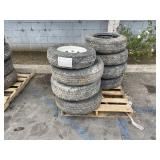 PALLET OF ASSORTED TRUCK TIRES: