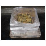 PALLET OF 1X1 GLASS TILES 200 S/F: