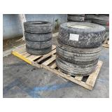 2 PALLETS OF TRUCK TIRES: SIZE R17
