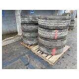 2 PALLETS OF TRAILER TIRES: SIZE 70R22.5