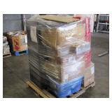PALLET OF DIFFERENT TYPES OF OFFICE GOODS