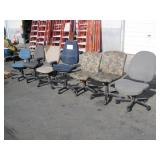 LOT OF 7 OFFICE CHAIRS DIFFERENT TYPES & STYLES