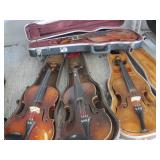 APPROX.9 VIOLINS WITH CASES