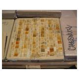 PALLET OF 12X12 CHESTNUT GLASS TILE