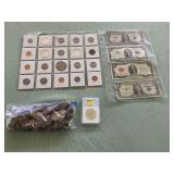 1 LOT W/COLLECTABLE MIXED COINS