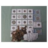 1 LOT W/ COLLECTABLE MIXED COINS,SILVER & WHEAT