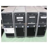 LOT OF 4 HP XW WORKSTATION COMPUTERS