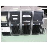 LOT OF 5 HP XW WORKSTATIONS COMPUTERS
