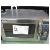 LOT OF 2 COMMERCIAL STAINLESS STEEL MICROWAVES