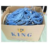 LOT OF 4 BOXES WITH ELECTRONIC WIRES & CABLES