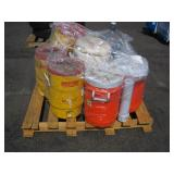 PALLET OF VARIOUS TYPES OF ICE CHEST & COOLERS