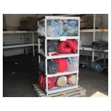 PALLET OF SLEEPING BAGS, STUFFED ANIMALS &