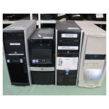 4 HP COMPUTER TOWERS