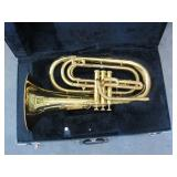 APPROX 7 FRENCH HORNS WITH CASES