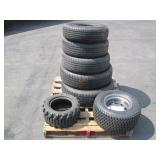 PALLET OF VARIOUS TIRES FOR CARTS,TRAILERS & CARS