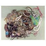 1 BAG WITH COSTUME JEWELRY