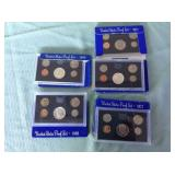 1 BAG WITH COINS PROOF SETS