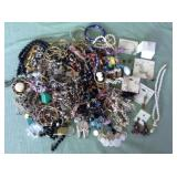 1 BAG OF MISC. COSTUME JEWELRY