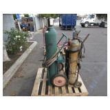 4 ACETYLENE TANKS WITH DOLLIES