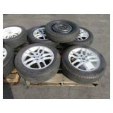 5 CAR TIRES WITH RIMS