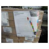 PALLET OF WRITING DIVIDERS & PAPER CLIPS