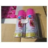 PALLET OF PINK HAIR COLOR SPRAY