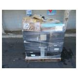 PALLET OF ASSORTED PRINTERS, MONITORS & KEYBOARDS