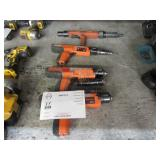 4 POWDER ACTUATED TOOLS