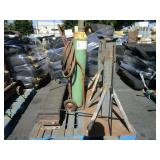 ACETYLENE TANK & 2 MATERIAL STANDS
