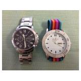 1 BAG W/DESIGNERS WATCHES, NO CERTIFICATE OF