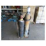 2 ACETYLENE TANKS WITH DOLLY