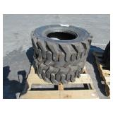 2 TITIRE SKID STEER TIRES: