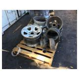 1 PALLET CAR WHEEL/RIMS